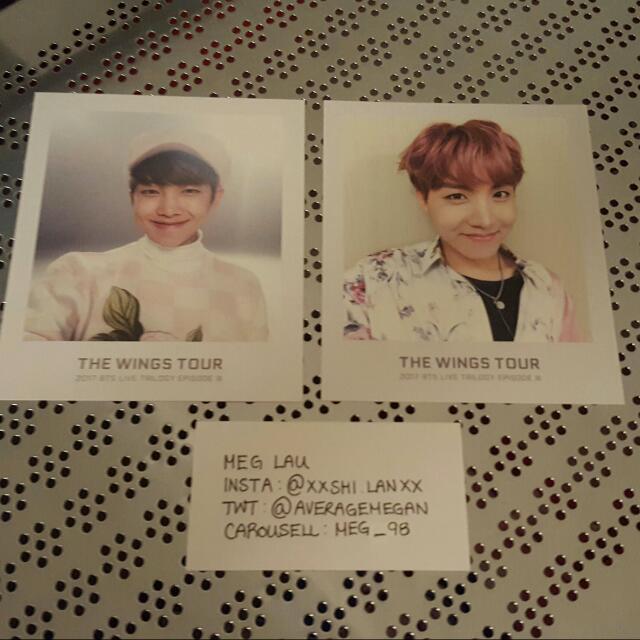 BTS Wings Ticket Album Photos