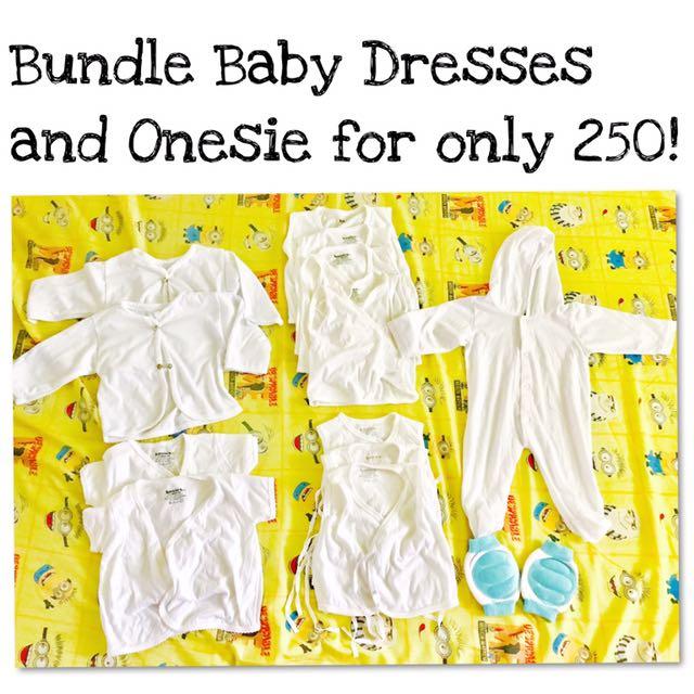 Bundle Baby Dresses And Onesie