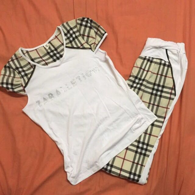 Burberry Inspired Long Pants Set Freepostage Women S Fashion