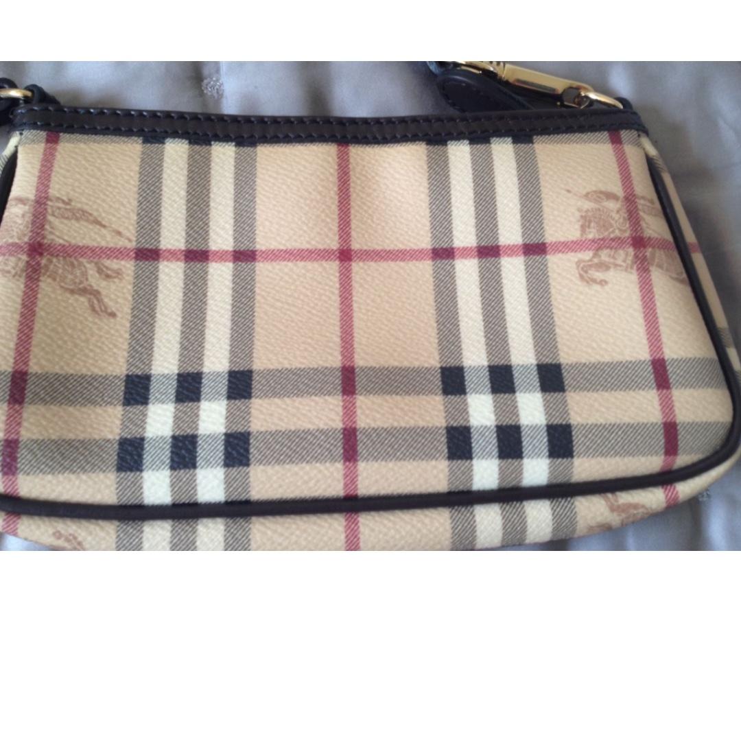 Burberry Pochette Mini Handbag with Check Pattern