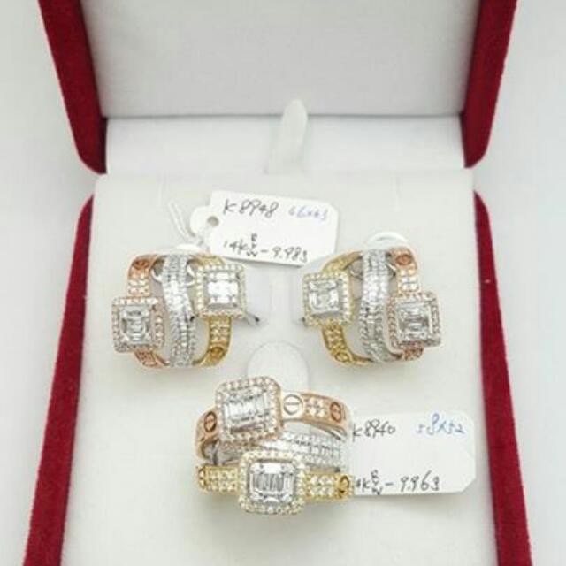 Cartier Ring & Earring Diamond Hongkong Setting