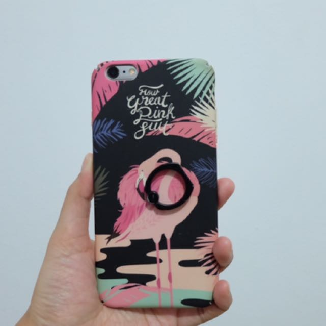 Casing Iphone 6 Plus Flamingo Preloved