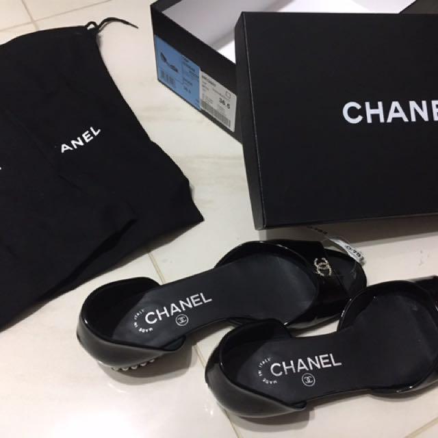Chanel香奈兒平底涼鞋娃娃鞋