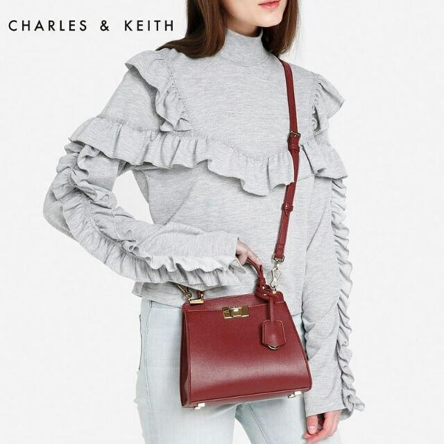 CHARLES N KEITH PUSHLOCK HANDBAG MINI