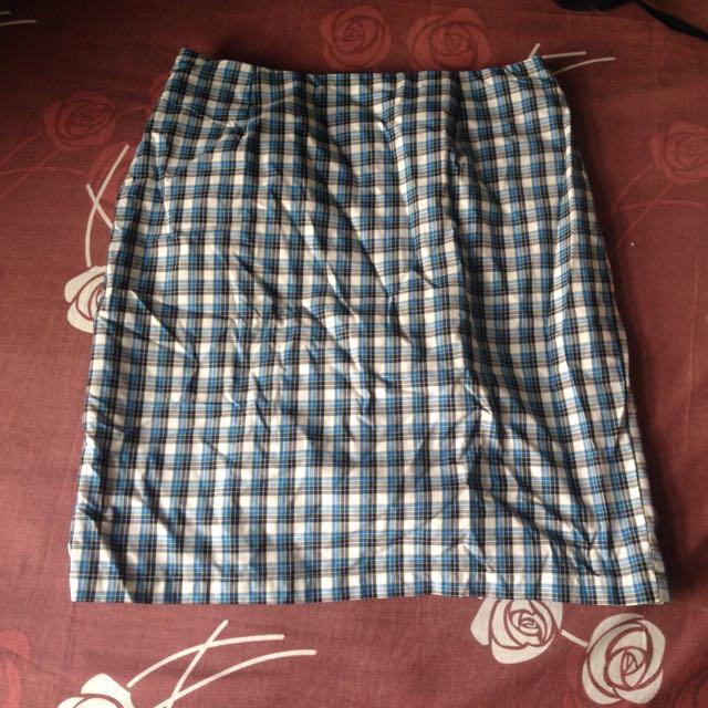 Checkered Skirt No Brand