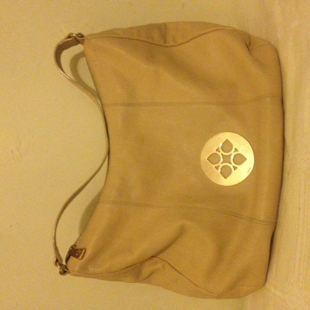 Collette Hayman Cream Leather Handbag