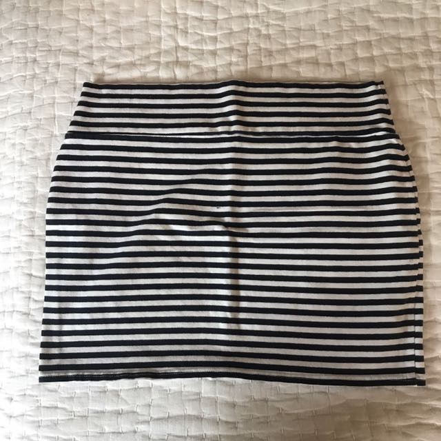 Cotton On Striped Right Mini Skirt
