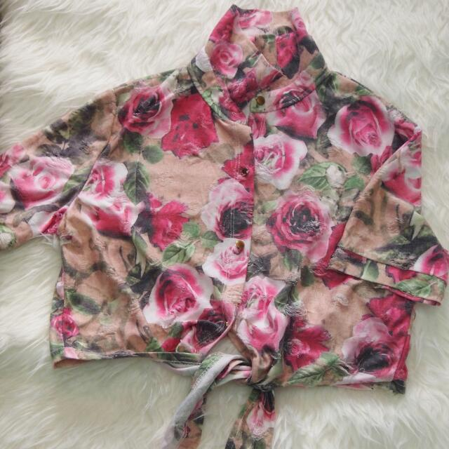 Crop Top Flower (pink)