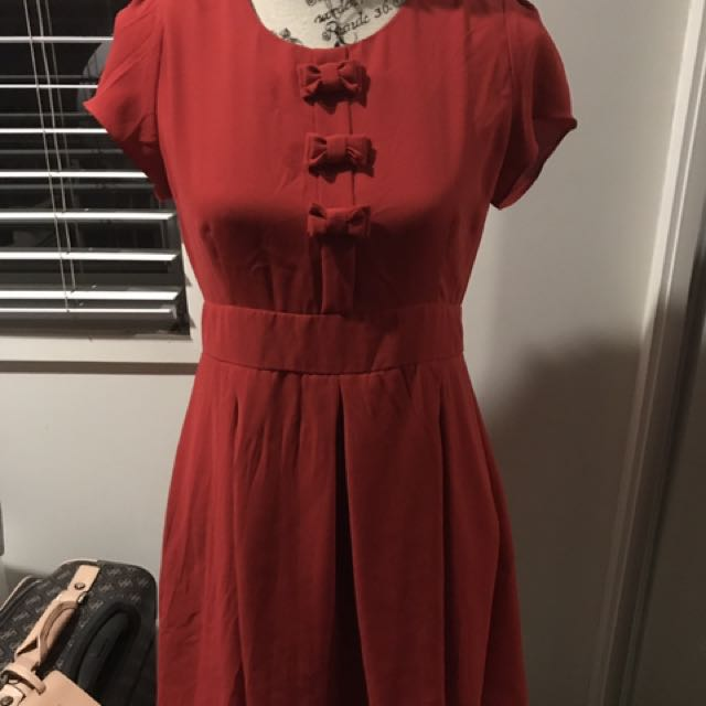 Dangerfield Red Dress Size 10