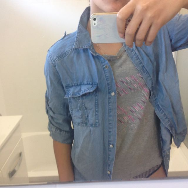 Denim Synthetic Jacket