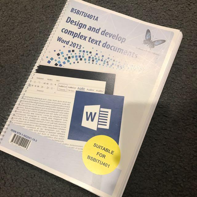 Design And Develop Complex Text Document