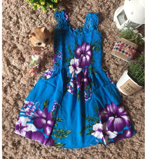 Dress Bali Bunga2 Utk Anak 1.5 - 2 Thn