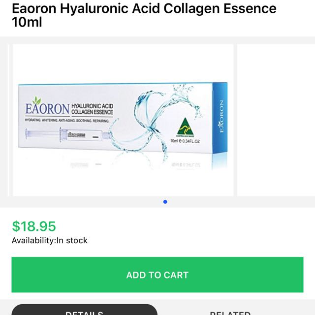 Eaoron Hyaluronic Essence 10ml RRP $19