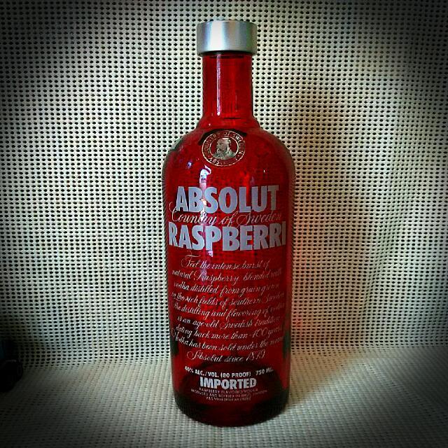 Empty Bottle Of Absolut Vodka Raspberry