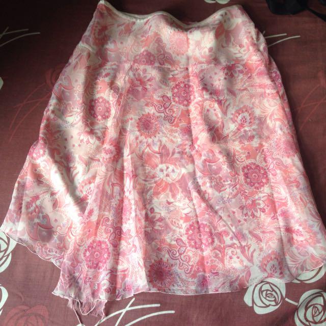 Esprit Floral Pink Skirt