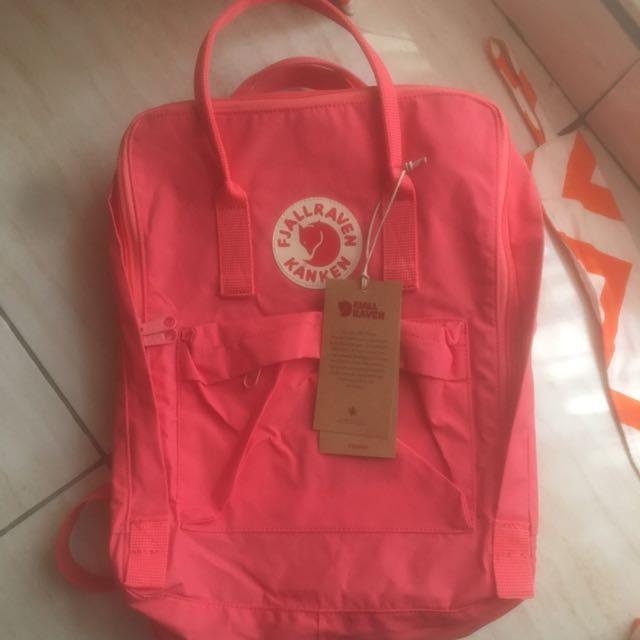 FJALLRAVEN KANKEN bag peach pink ORIGINAL 100%
