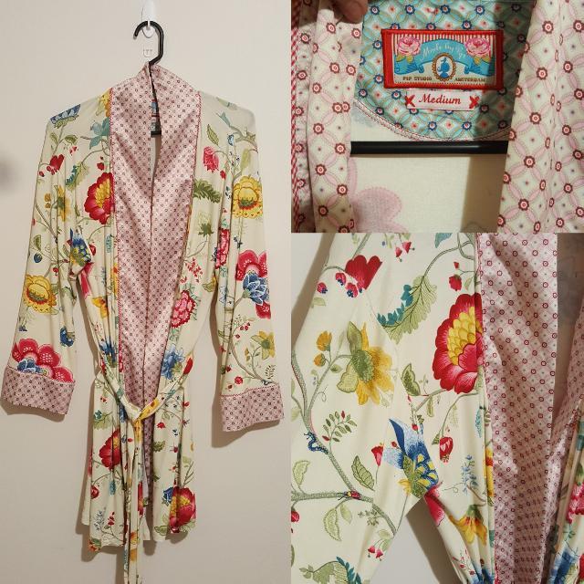 Floral Bathrobe. Pip Studio. Size M