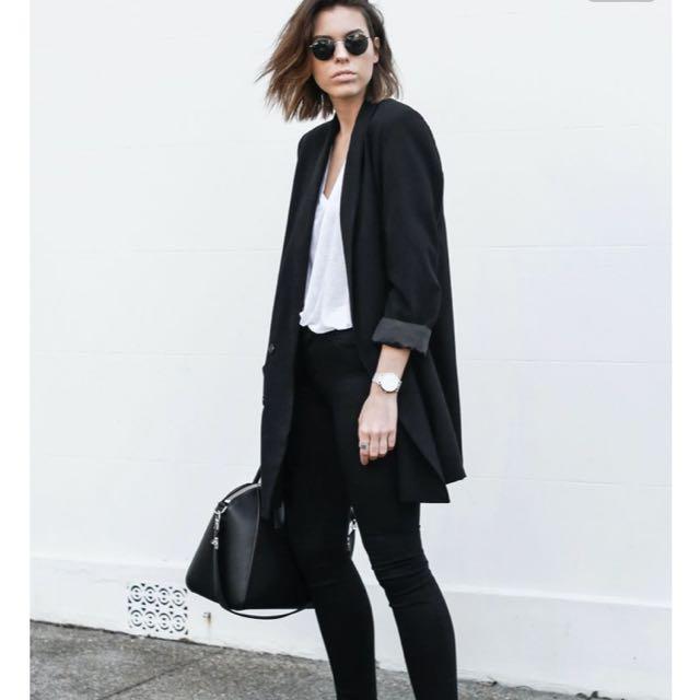 Forever21 Black Oversized Blazer