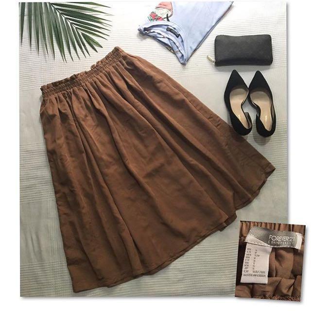 Forever21 Midi Wide Skirt