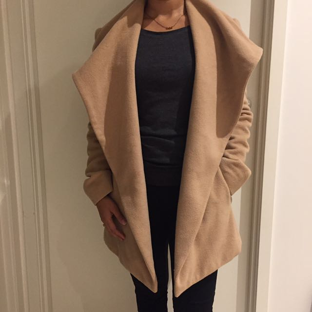 Forever New Wool and Cashmere Tan Coat