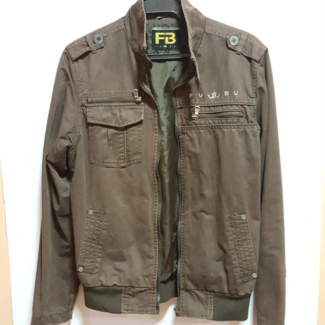 Fubu Authentic Jacket - Brown (Size: Small)