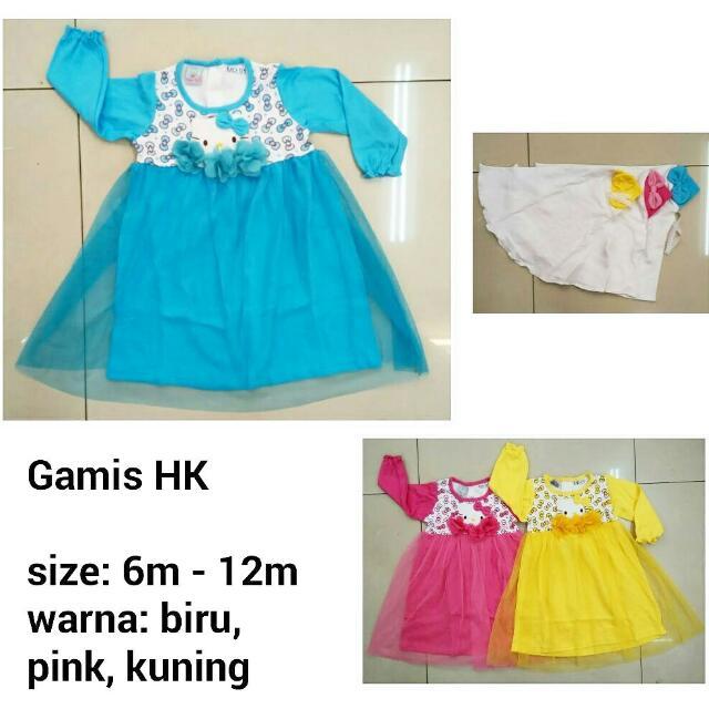 Gamis Hello Kitty - Baju Muslim Anak Murah, Bahan Kaos Adem