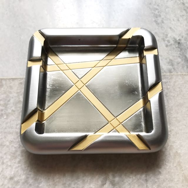 Gold Trimmed Ashtray