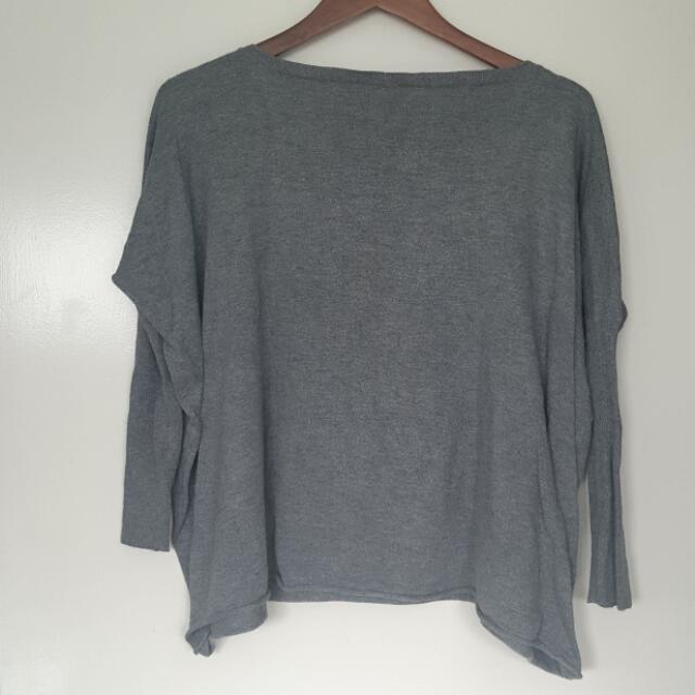 Grey Oversized Knit - Size S/M