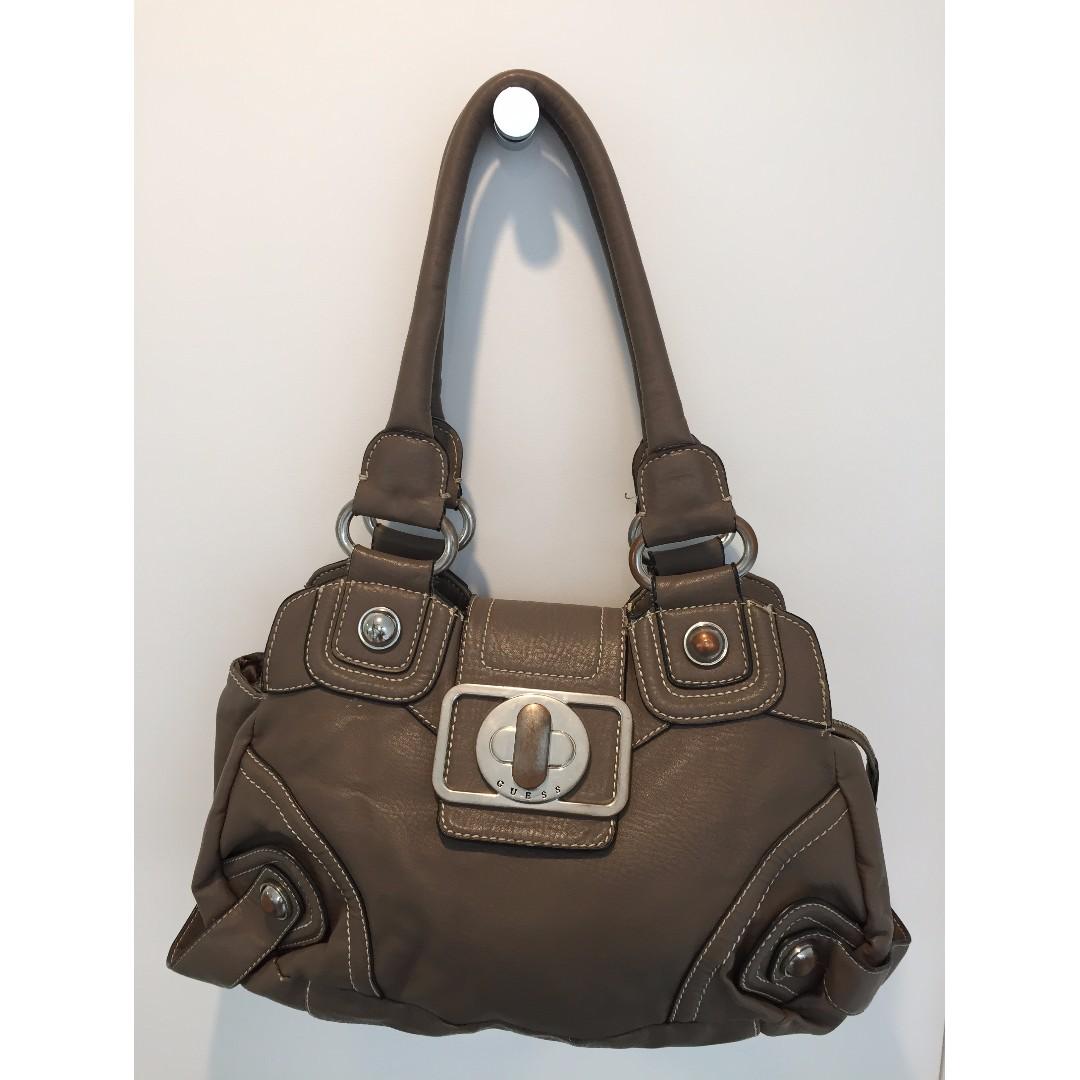 Guess grey leather handbag