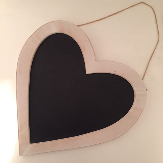 Heart Shaped Chalk Board