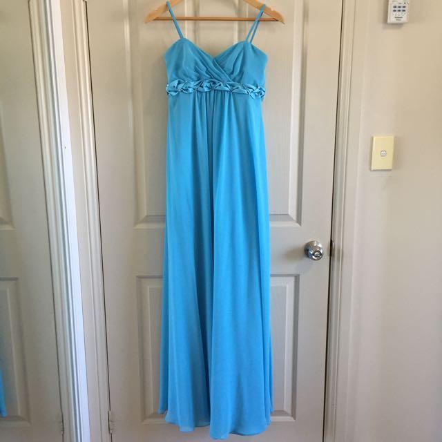 Henry Roth Aquamarine Formal/Bridesmaid Gown