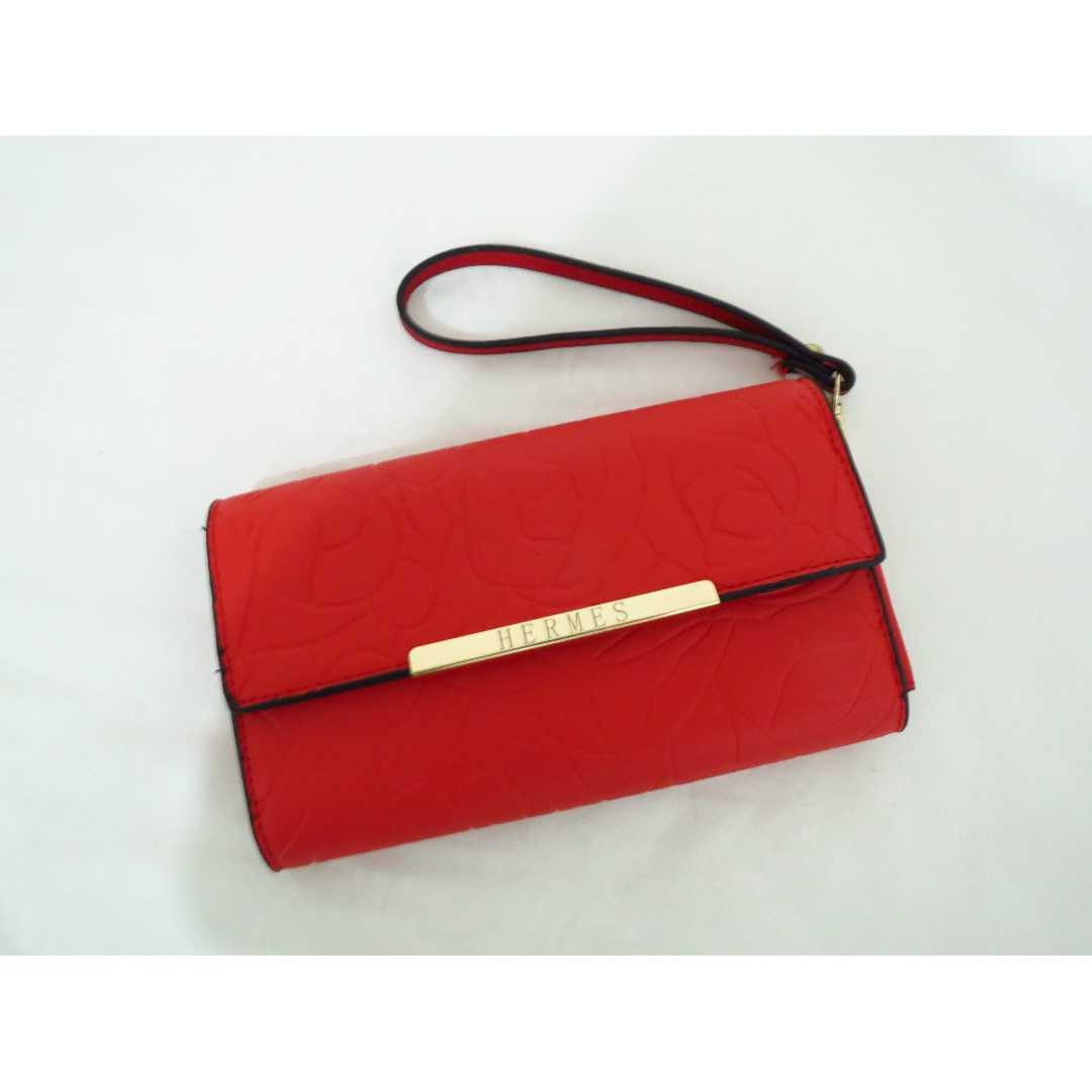 HERMES RED CLUTCH