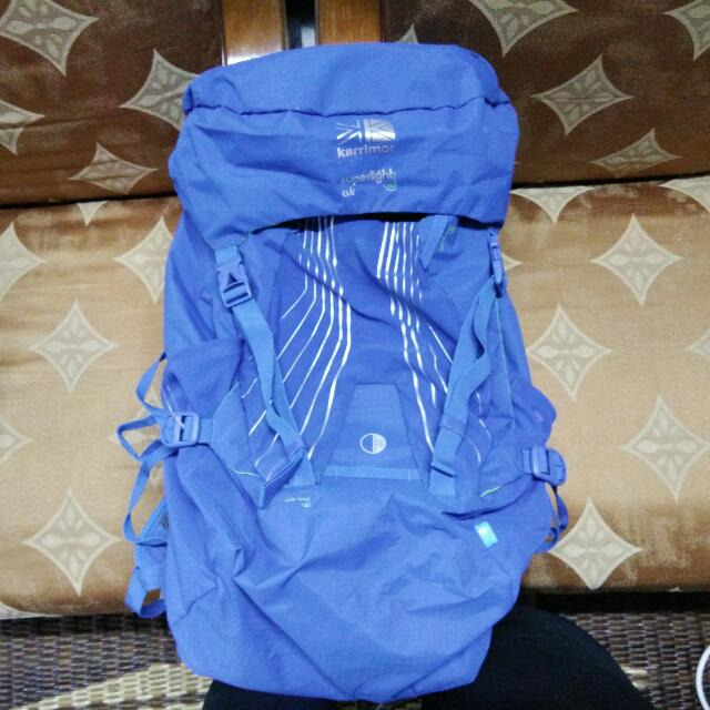 4833d9d4b5a Hiking Backpack Karrimor Superlight Air 35L (Blue), Sports, Other on  Carousell