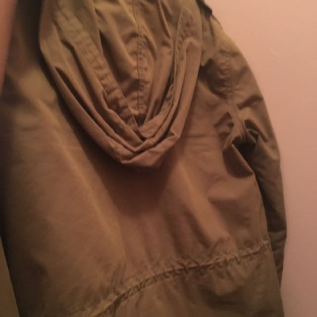 H&M Military Jacket With Hood