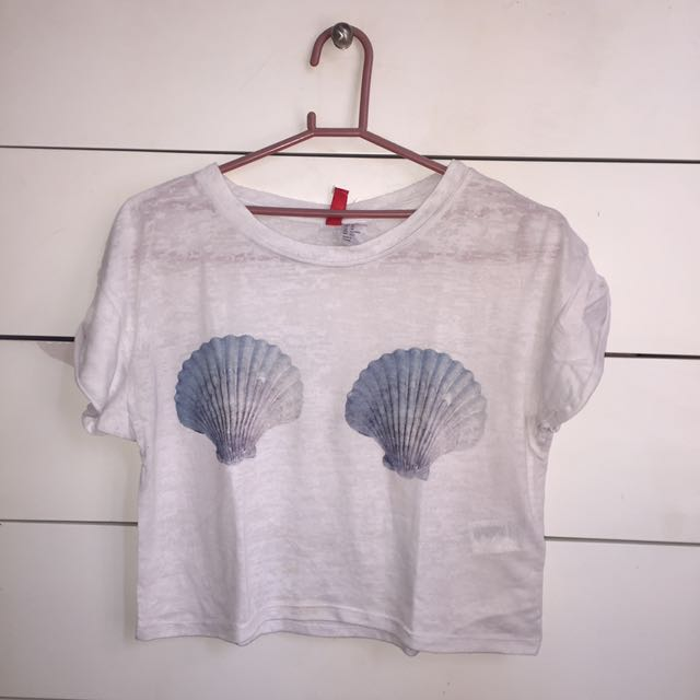 H&M Sea Shells Crop Top