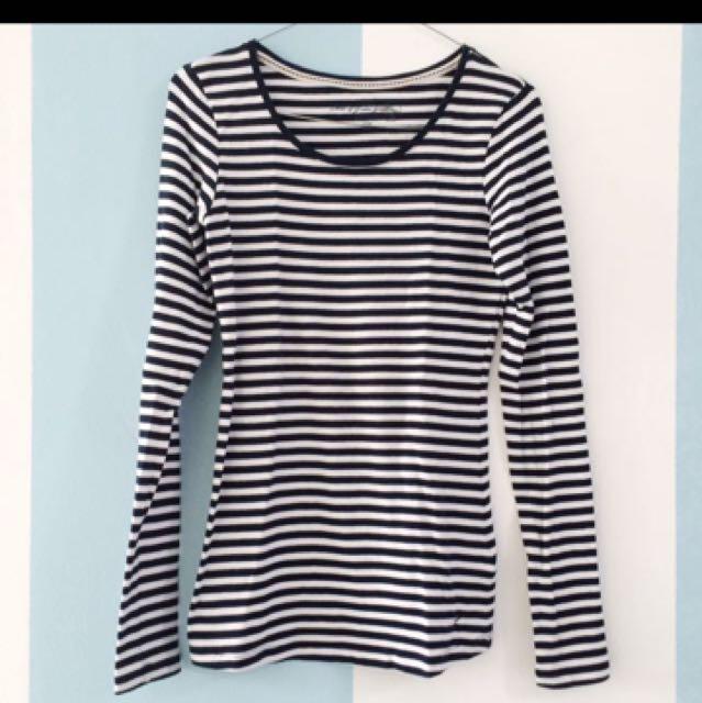HnM H&M Kaos Garis/striped Tee