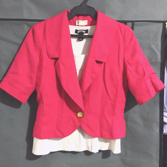 hot pink blazer (repriced)