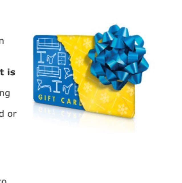 IKEA Giftcard With Receipt $1100.00 And Change