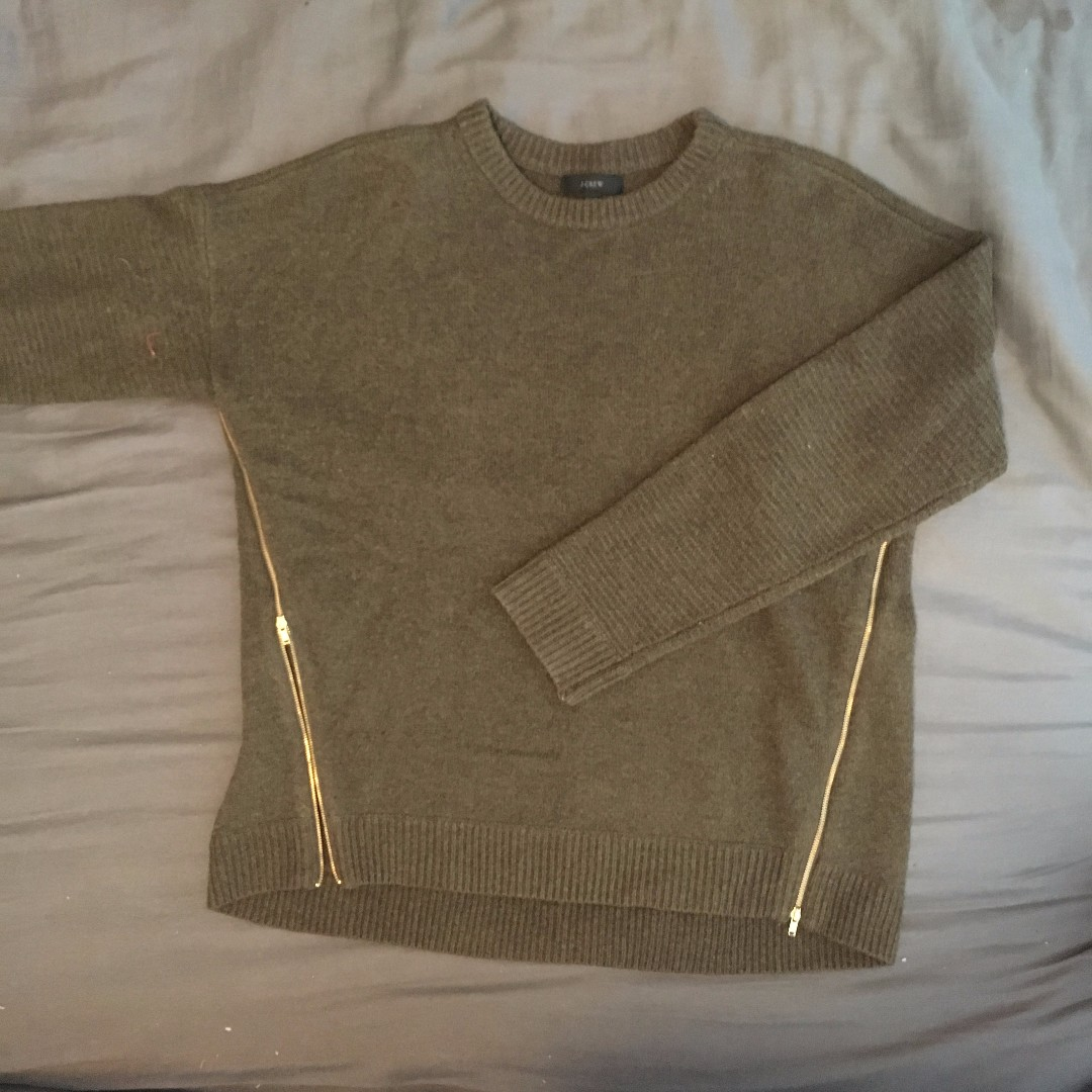 J. Crew - Knit Pullover Sweater with Zippers (M)