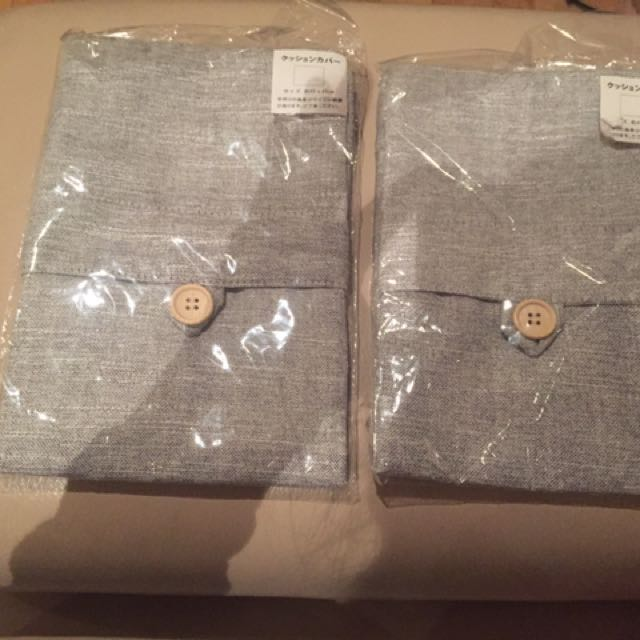 Japanese Grey Pillow Cases