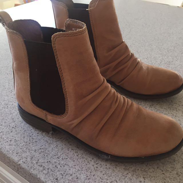 Jo Mercer Tan Ankle Boots Size 36