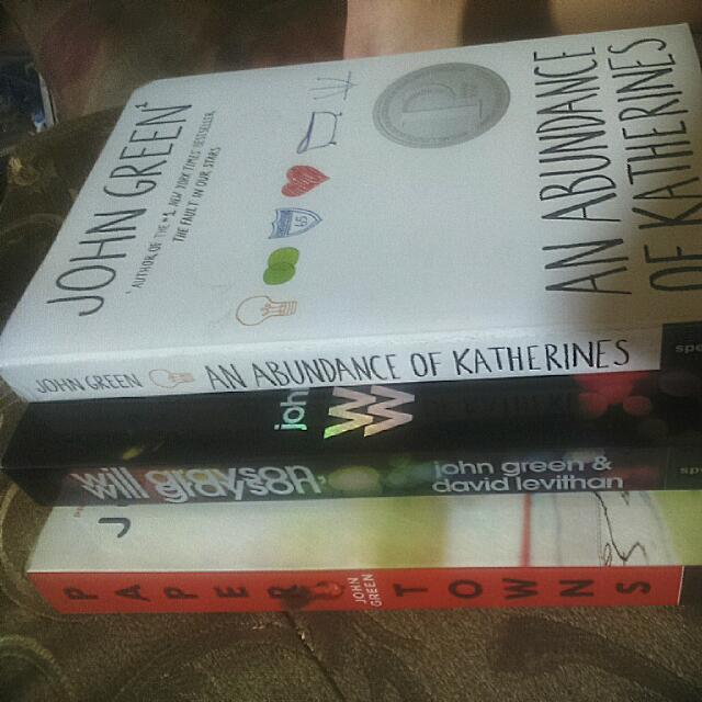 JOHN GREEN BOOK COLLECTION (ABUNDANCE OF KATHERINES, WILL GREYSON & PAPER TOWN)