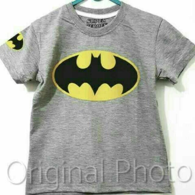 Kaos Anak Batman 001 7-10thn