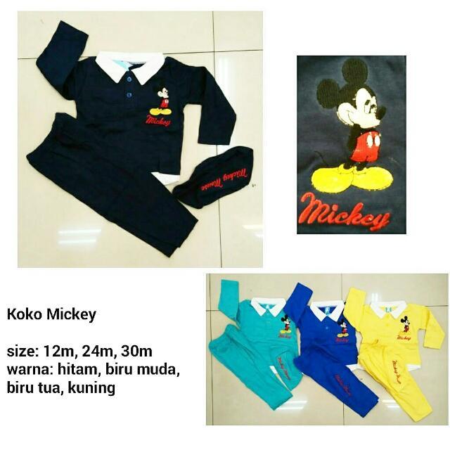 Koko Mickey - Baju Muslim Anak Murah, Bahan Kaos Adem