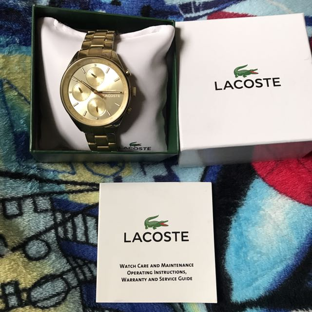 Lacoste Gold Watch