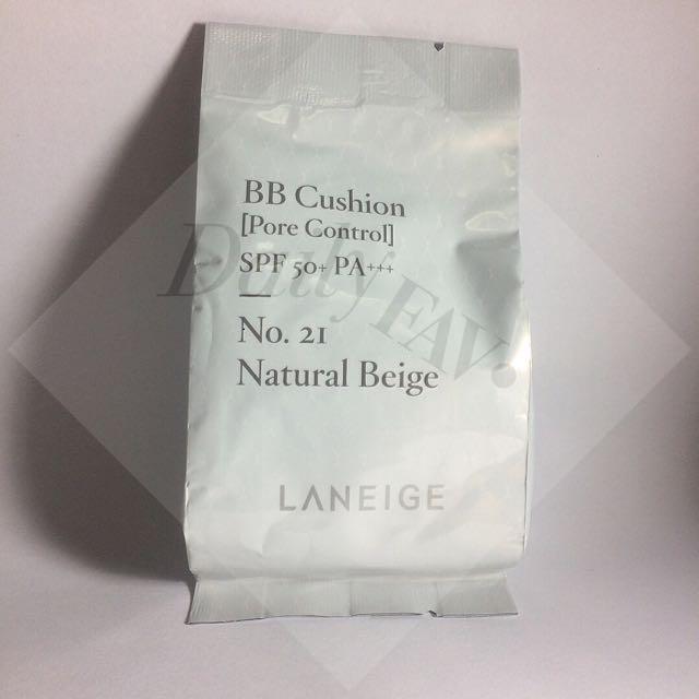 Laneige BB Cushion [Pore Control] REFILL: 21 - Natural Beige