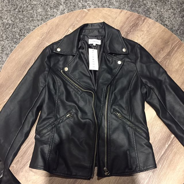 Lioness Faux Leather Jacket