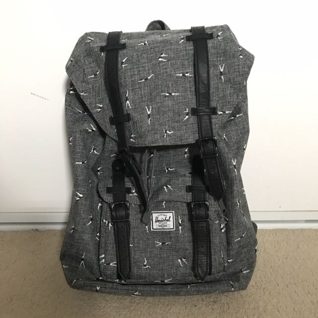 Authentic Little America Herschel Bag Backpack (Swimmer Design)