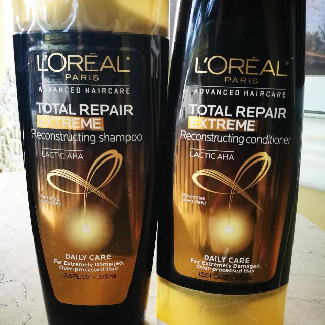 L'Oreal Total Repair Extreme Shampoo and Conditioner 375 ml each