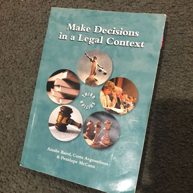 Make decisions In A Legal Context (Third Edition)